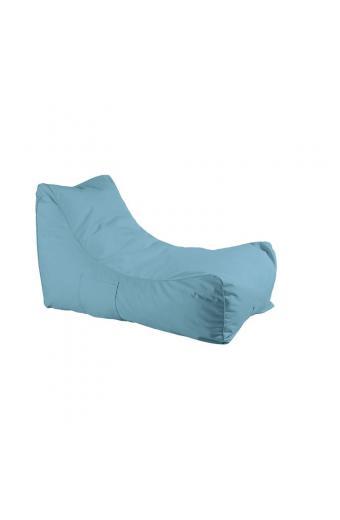 LAZY Πουφ Ανάκλιντρο 100% Αδιάβροχο - Ύφασμα Γαλάζιο