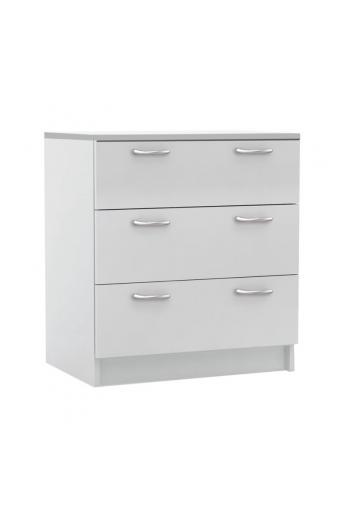 DECON Συρταριέρα με 3 Συρτάρια - Απόχρωση Άσπρο