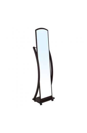 ROGER Καθρέπτης Δαπέδου Ξύλο - Απόχρωση Καρυδί