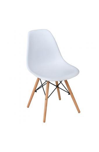 ART Wood Καρέκλα Ξύλο - PP Άσπρο Pro