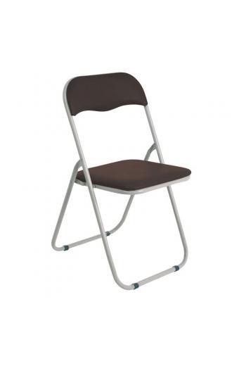 LINDA Καρέκλα Πτυσσόμενη Βαφή Γκρι - Pvc Καφέ