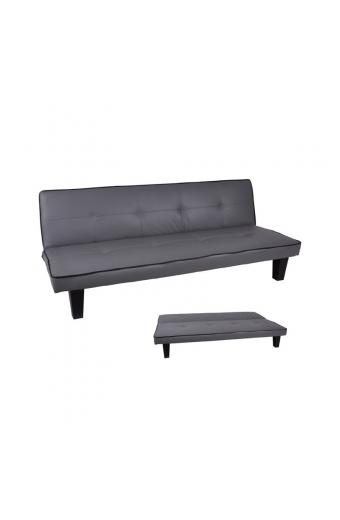 BERIT Καναπές/Κρεβάτι PU Γκρι