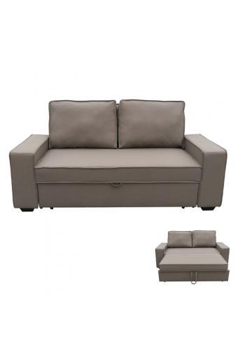 ALISON Καναπές/Κρεβάτι Nabuk Καφέ Mocha