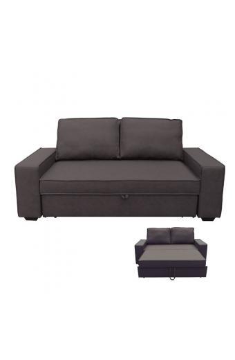 ALISON Καναπές/Κρεβάτι Nabuk Σκούρο Καφέ