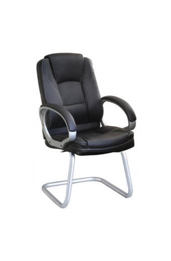 BF6950V Πολυθρόνα Γραφείου Επισκέπτη / Pu Μαύρο